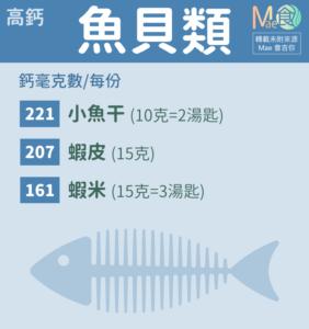 高鈣魚貝類