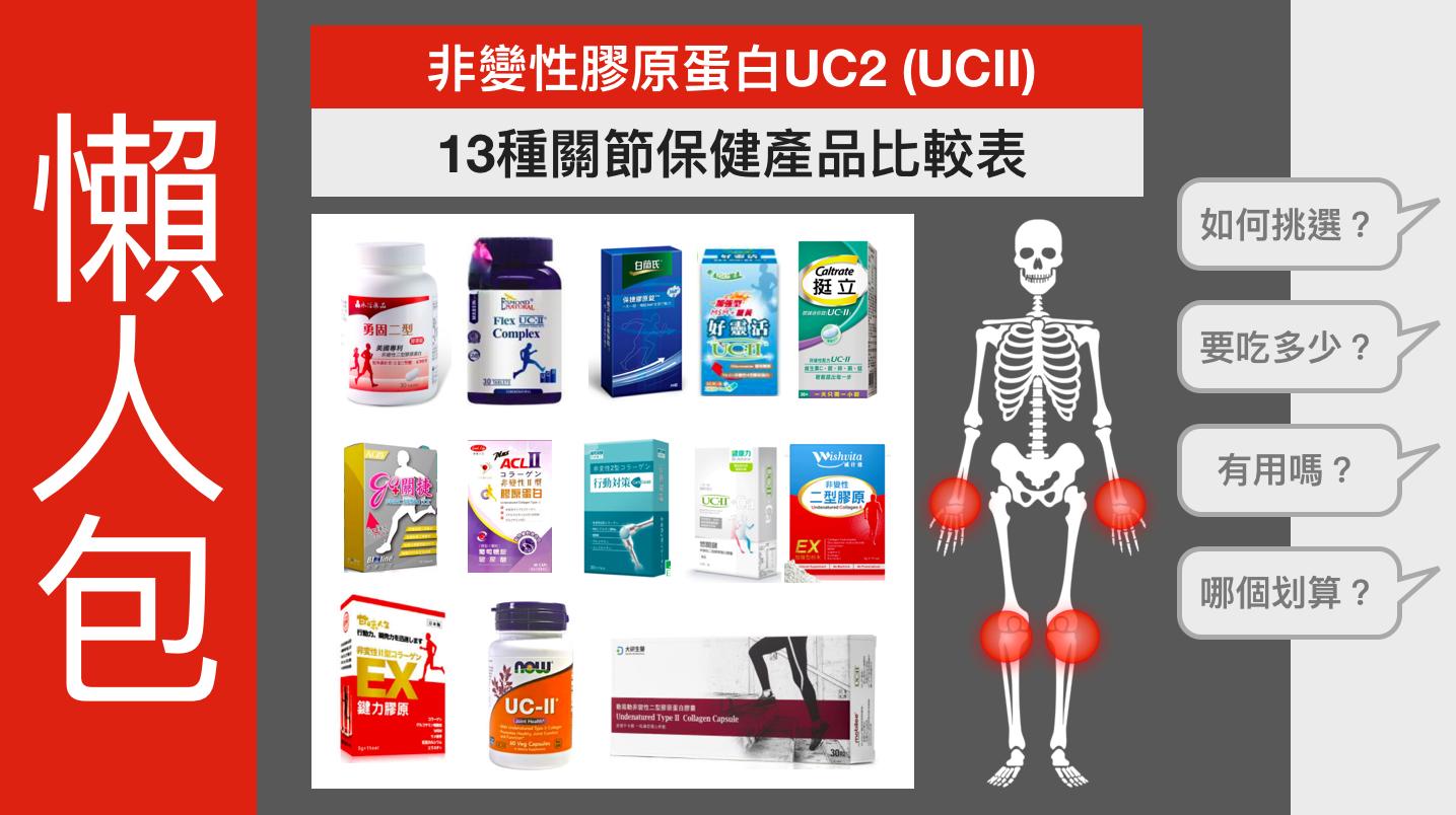 關節保健產品比較_UC2推薦_非變性膠原蛋白_UCII